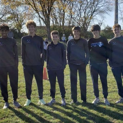 Members of the varsity team pose for a picture before their conference championship on October 15. Pictured above from left to right: Tarun Vendula, Kole Sommer, Luke Knepp, Grant Tebbe, Jacob Mumey, and Kalen Bunch.