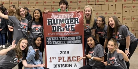 Spartan Assembly's 2019-2020 celebrates winning River Bend Foodbank's Student Hunger Drive on Nov. 14, 2019. Despite the delay of the 2020 competition, the council is still hosting smaller fundraisers in order to make a bigger impact once it begins.