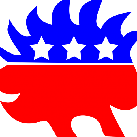 The symbol of the Libertarian Party, one of the few parties beyond the Republican and Democratic Parties.