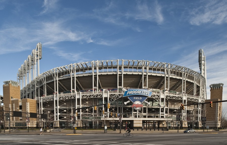 Progressive Field, home of the former Cleveland Indians, was the site of many protests against the baseball team's name. While the name is still on the field, Cleveland is in the process of changing the baseball team's name.