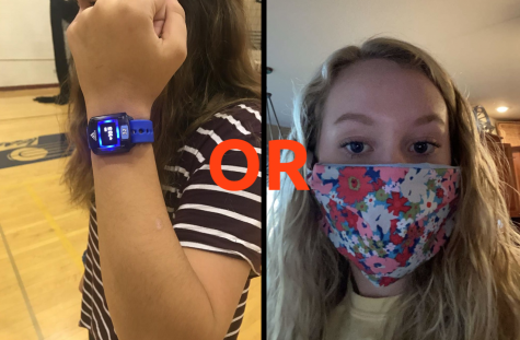 In a poll conducted by SUFFOCATE, students get to choose between wearing a heart-rate monitor or a mask.