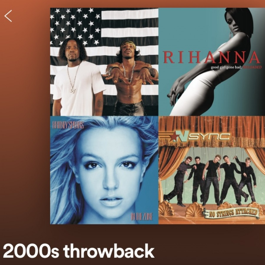 This playlist features 30 hits from the early 2000s.