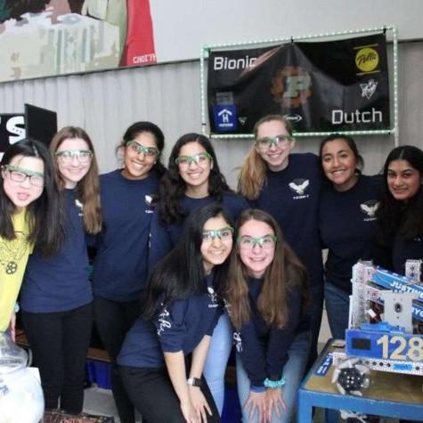 Preksha Kedilaya and her robotics team, Flourish and Bots, compete at the FTC Super Qualifier meet.