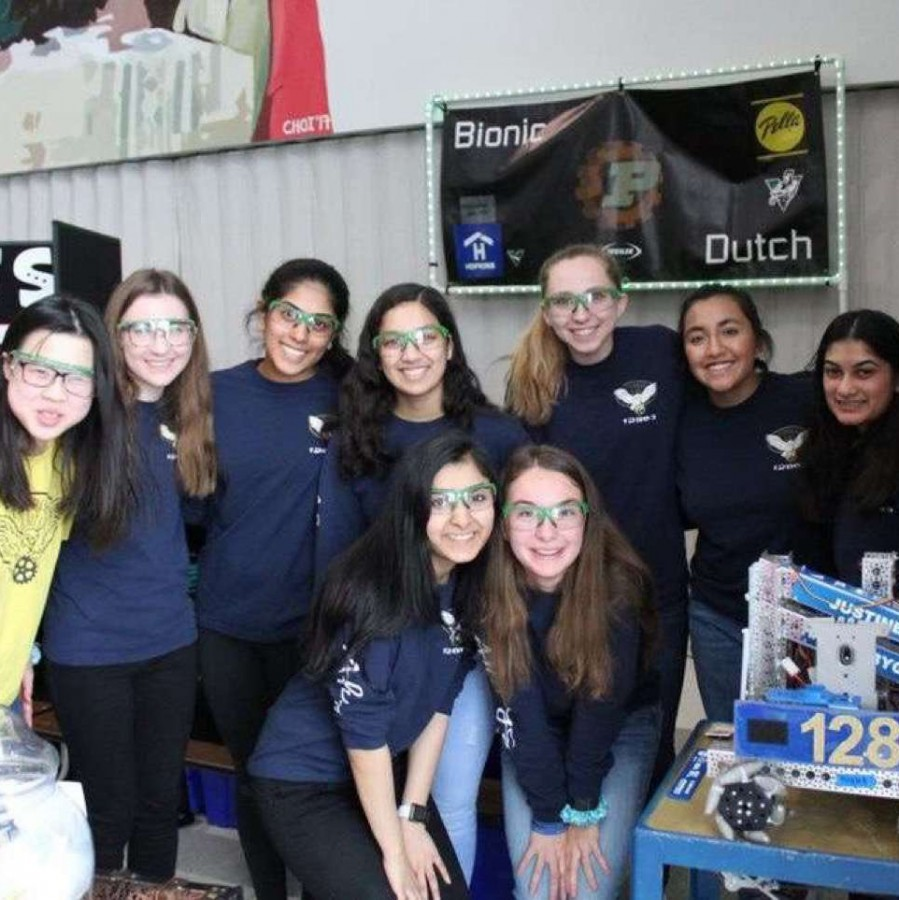 Preksha Kedilaya and her robotics team, Flourish and Bots, compete at the FTC Super Qualifier meet.