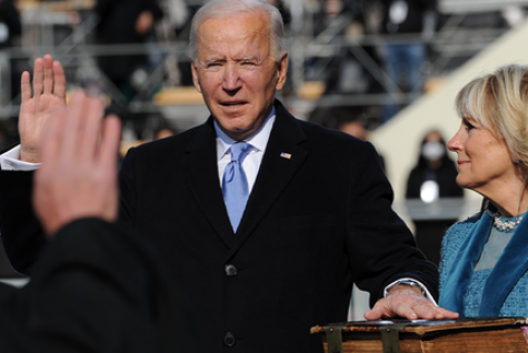 Joe Biden being sworn in as President of the United States during his inauguration on Jan. 20. Beginning arguably the most important part of his presidency, the first 100.