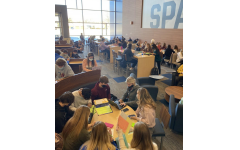 5th period study hall has over 80 students, many of them being seniors.