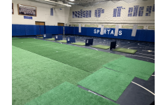 PV's transforms an old wrestling room into a new indoor golf room.