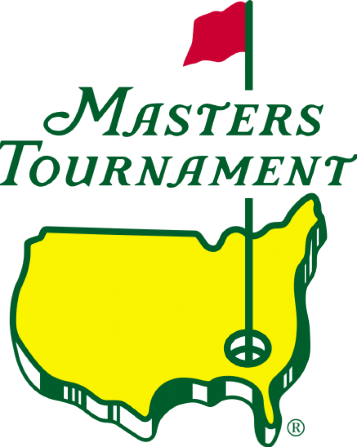 The Masters Tournament Logo where Tiger Woods and Hideki Matsuyama have broken racial barriers.