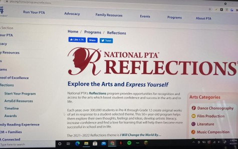 The PTA Reflections website makes it easy for students of all ages to access the program details.