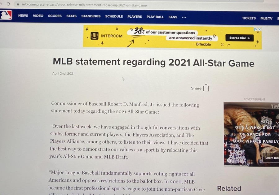 The MLB website pictured above is a great place to keep up with the latest baseball news.