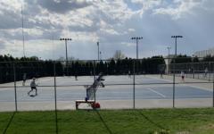 The Pleasant Valley boys tennis team at their meet April 30.