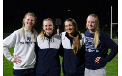 Seniors Harmony Creasy and Emily Wood qualifying for Drake relays in their 4x100 relay with juniors Kora Ruff and Ava Kwak, despite COVID-19 setbacks.