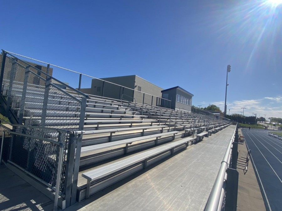 An empty student section, a view that was unfortunately a common scene this year.