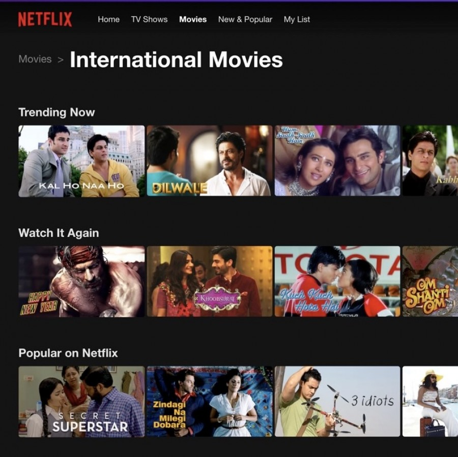 There are many Bollywood movies to choose from on Netflix.