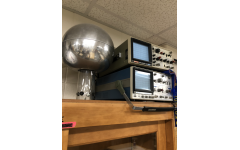 AP Physics teacher Ian Spangenberg's room is filled with scientific equipment and tools.