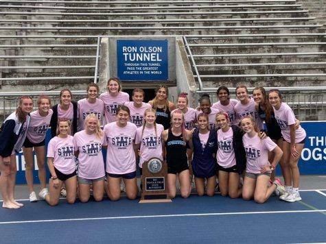 The Pleasant Valley Girls Track and Field team took second place at the State tournament held at Drake Stadium.