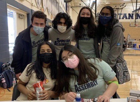 Spartan Assembly members volunteer at this year's blood drive event.