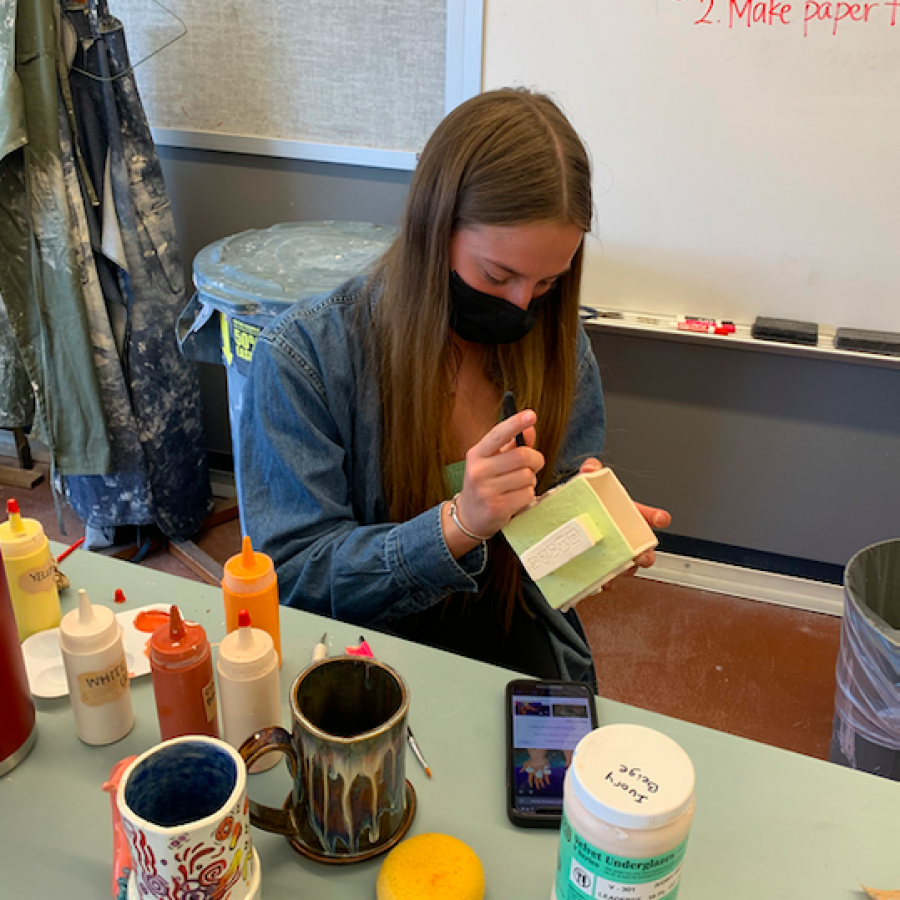 AP art student Raegan Stein has had a love for art her entire life, and in her classes at PV she has had the chance to portray her talents at a competitive level.