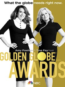 The poster for the last golden globes that aired as it will not air again in 2021 among controversy surrounding the event.