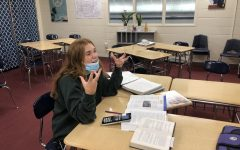 Stressed out senior Lauren Puthoff agonizes over her abundance of homework.
