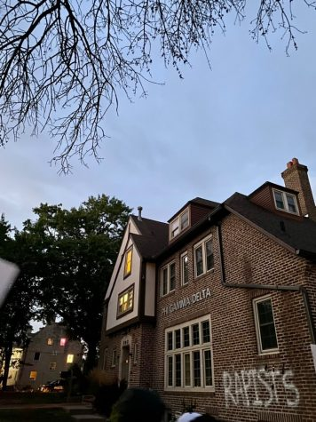 Due to the lack of response after a reported rape allegation from last year, students gathered outside of the University of Iowa's Fiji fraternity house to protest.