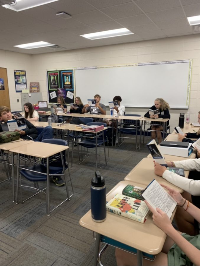 Students enjoy classics such as The Crucible during SSR time.