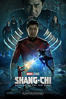 """The movie poster for the recent featured film """"Shang Chi Legend Of The Ten Rings."""""""