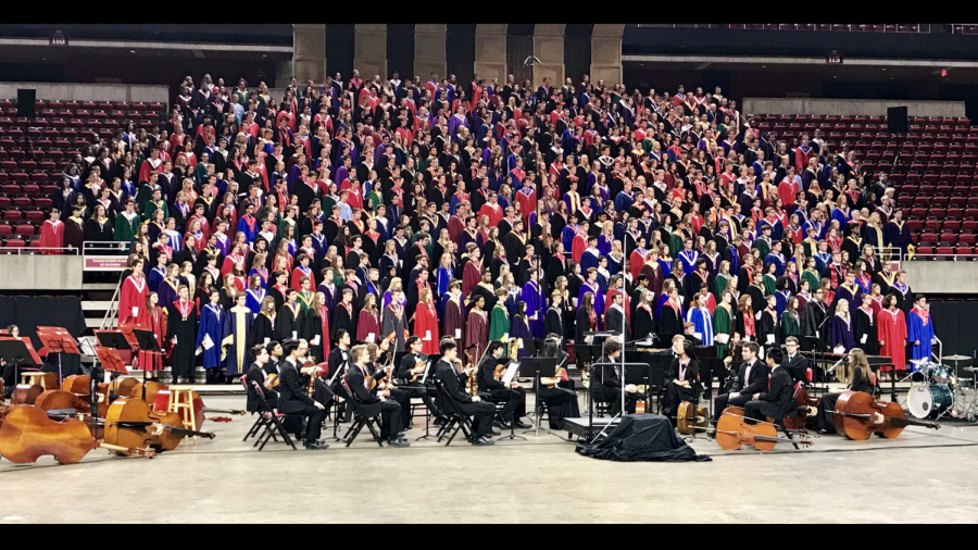 The 2018 Iowa All State Chorus performs at the state-wide music festival.