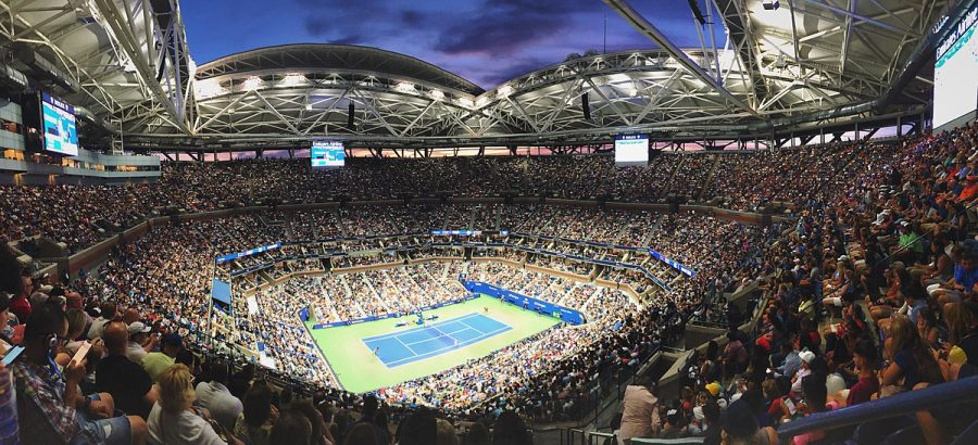 This is the Arthur Ashe Stadium at the U.S. Open where Emma Raducanu captured the 2021 Women's Title