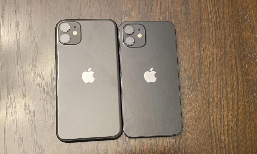 A student displays their iPhone 11 and 12, which represent another iPhone release that seemed mediocre.