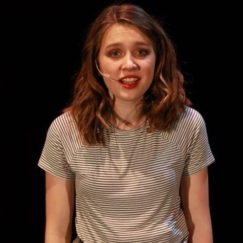 "Senior Grace Engstrom performed as Chris in ""Carrie: The Musical."""