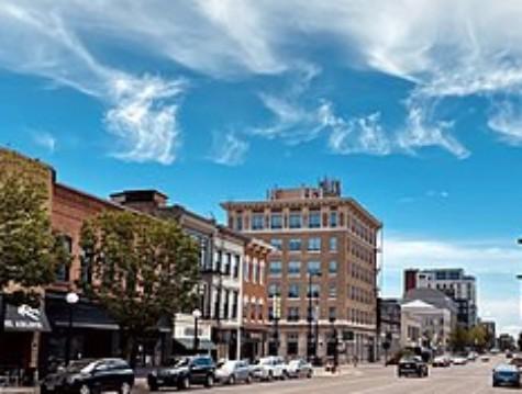Downtown Iowa City.