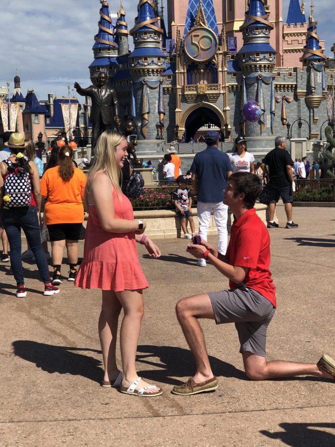Haley Humphries gets engaged in Walt Disney World.